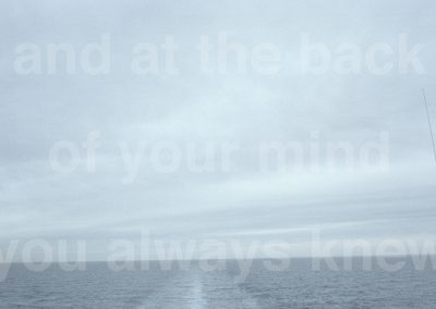 'And at the back of your mind you always knew (aerial)' 2002